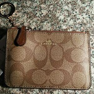 Signature Canvas Coin purse/ Wrislet/ Card holder
